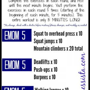 EMOM workout- only 15 minutes