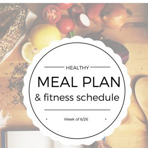 Healthy meal ideas and fitness plan for the week. Excited to use this for new ideas! fitnessista.com