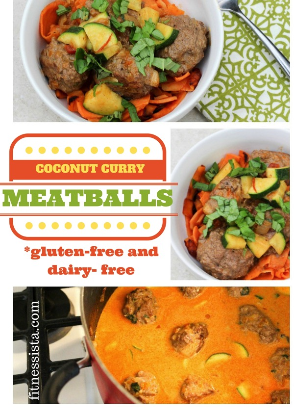 Coconut curry meatballs with sweet potato noodles