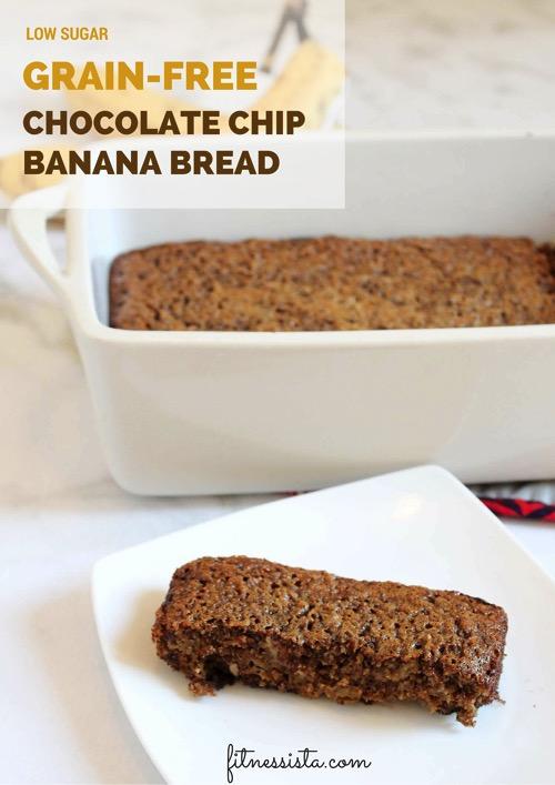 Grain free chocolate chip banana bread
