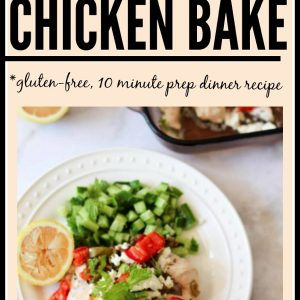 A delicious and healthy Mediterranean chicken bake. It only takes 10 minutes to prep! Perfect for getting out of the chicken rut. fitnessista.com