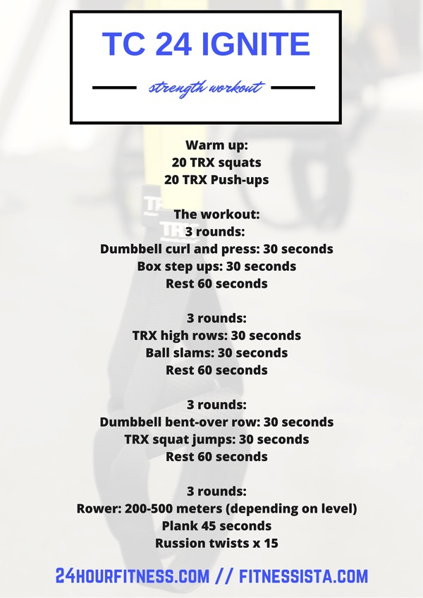 24 hour fitness TC 24 Ignite workout