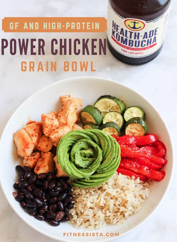 Gf and high protein power chicken grain bowl