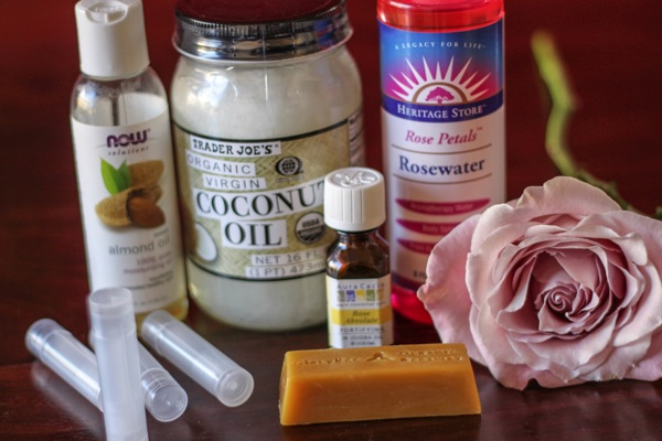 Natural skincare ingredients like coconut oil and almond oil