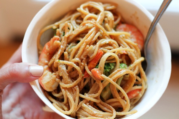 Shrimp with peanut sauce 3