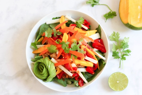 Spring roll chicken salad 3