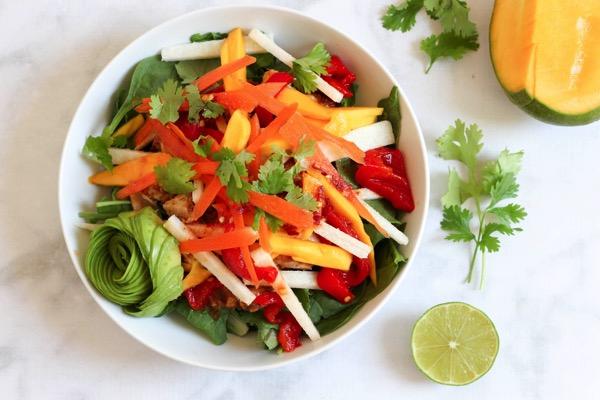 Spring roll chicken salad