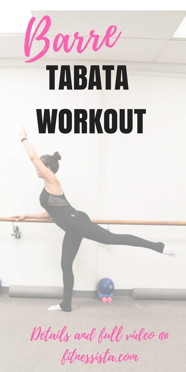Barre tabata workout and video