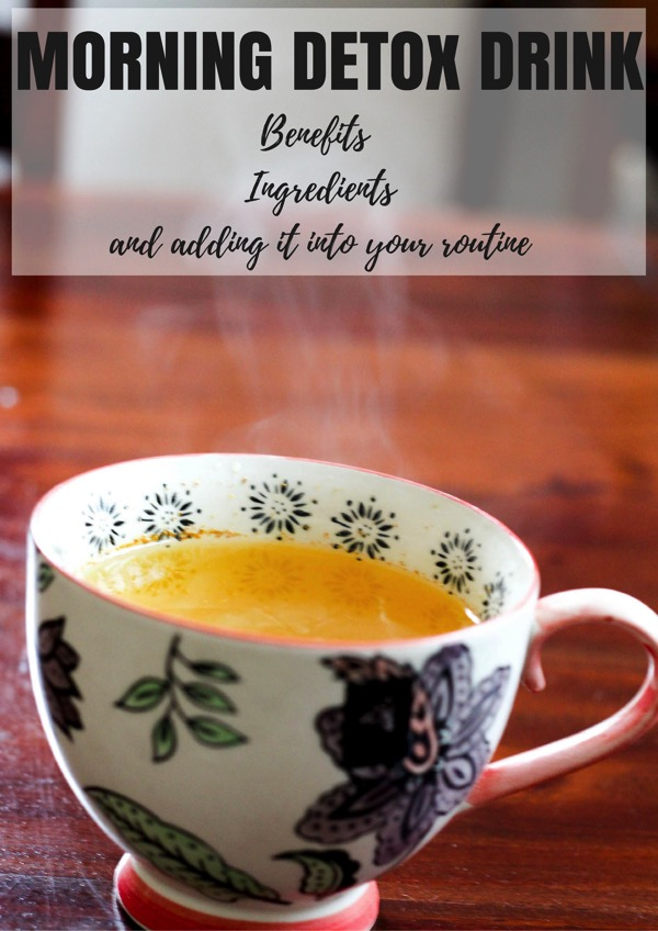 Morning detox drink with turmeric and apple cider vinegar