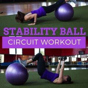A quick and effective stability ball total body workout! Work your entire body, including those hard-to-target deep core muscles, using the stability ball! fitnessista.com