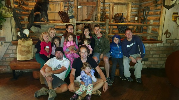 part of our group at the lodge