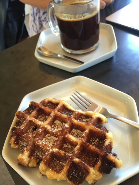 Moniker waffle and coffee