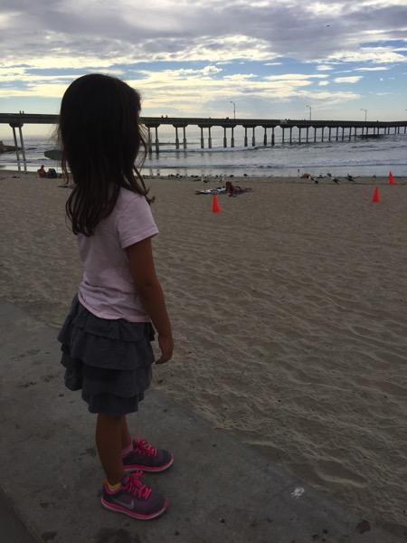 Livi at the beach