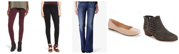 capsule wardrobe bottoms and shoes for fall 2016