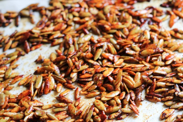 roasted Honey sriracha pumpkin seeds