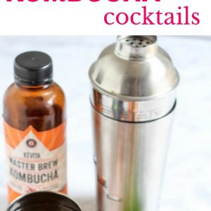 3 different kombucha cocktails recipes. Perfect for holiday parties or girls' nights. fitnessista.com