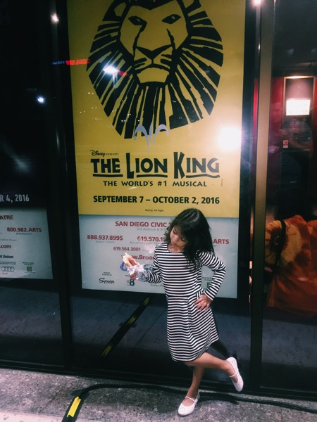 Seeing the Lion King with Liv