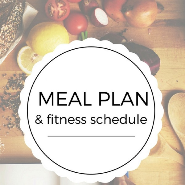Meal plan and schedule
