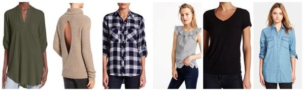 Capsule wardrobe tops for fall 2016