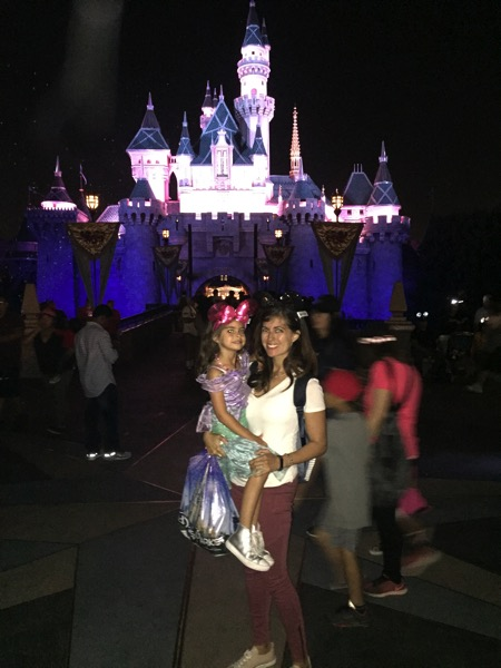Castle at night with Liv