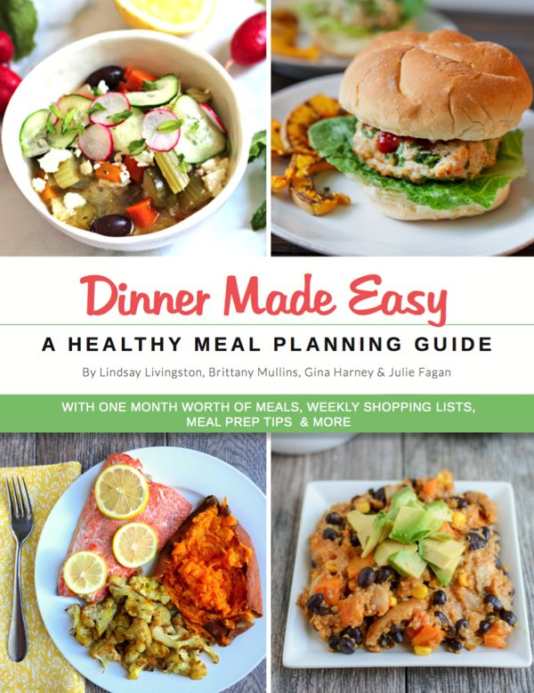 Dinner Made Easy healthy meal planning guide cover