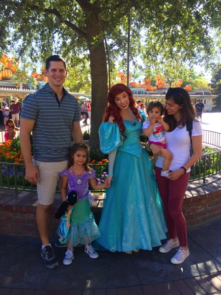 Family photo with Ariel