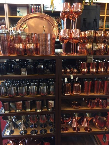 various drinkware at Pier 1