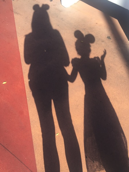 Mickey ears shadows