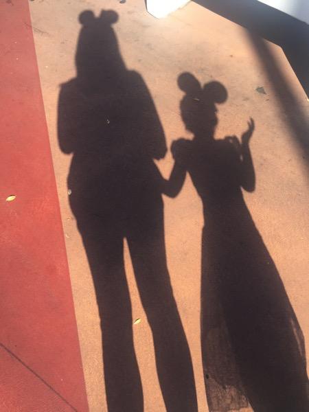Mickey ears shadows