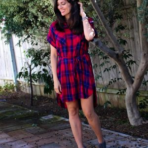 Stitch Fix review for fall 2016. Love this plaid dress!