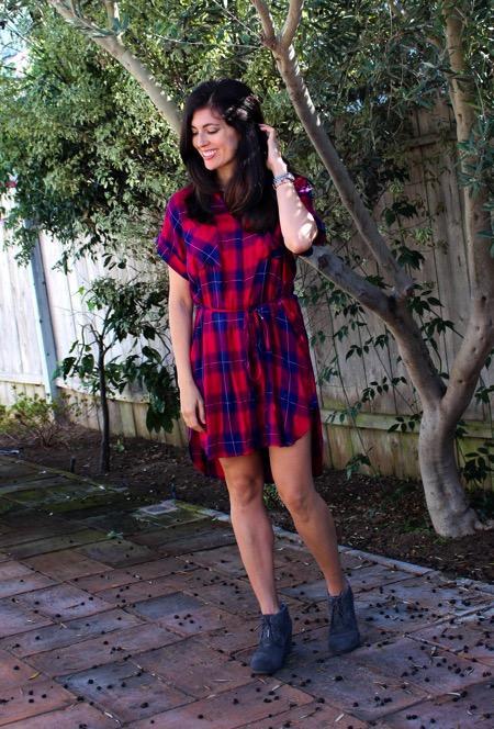 Rails plaid dress