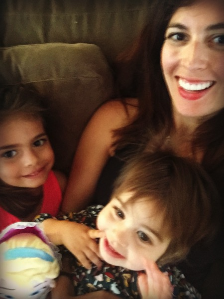 Me and the girls blurry selfie