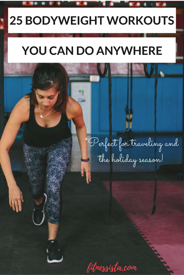 25 bodyweight workouts you can do anywhere