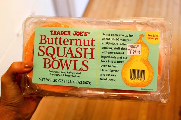 Trader Joe's Butternut squash bowls