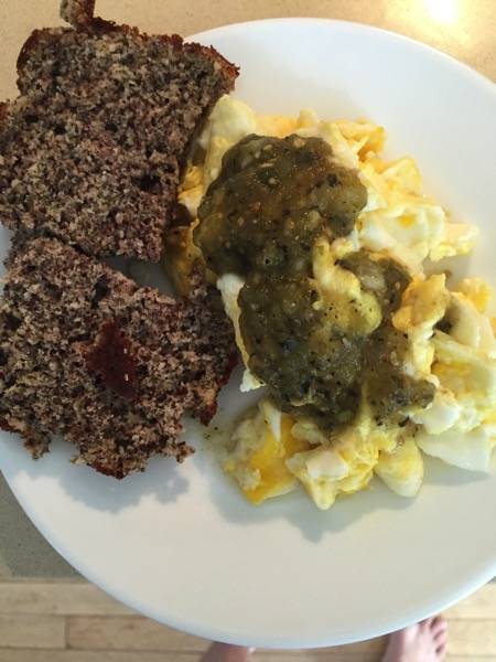 Eggs and paleo bread