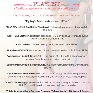 Fall 2016 Playlist and Treadmill Workout