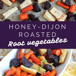 Honey Dijon roasted root vegetables are a perfect, healthy side dish for holidays or Thanksgiving feasts. They're also Paleo and gluten-free! fitnessista.com