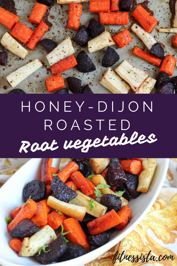 Honey dijon roasted root vegetables