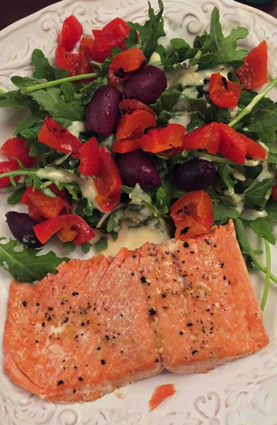 Salmon dinner 2