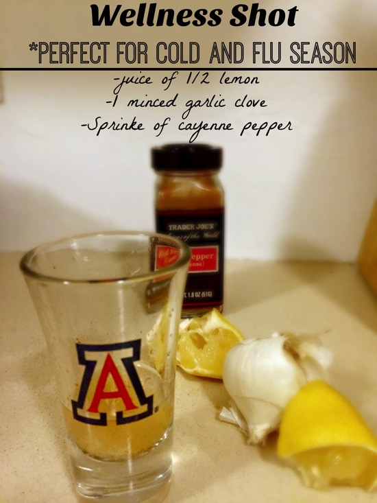 Wellness shot for cold and flu season