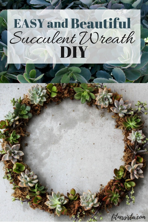 EASY homemade succulent wreath