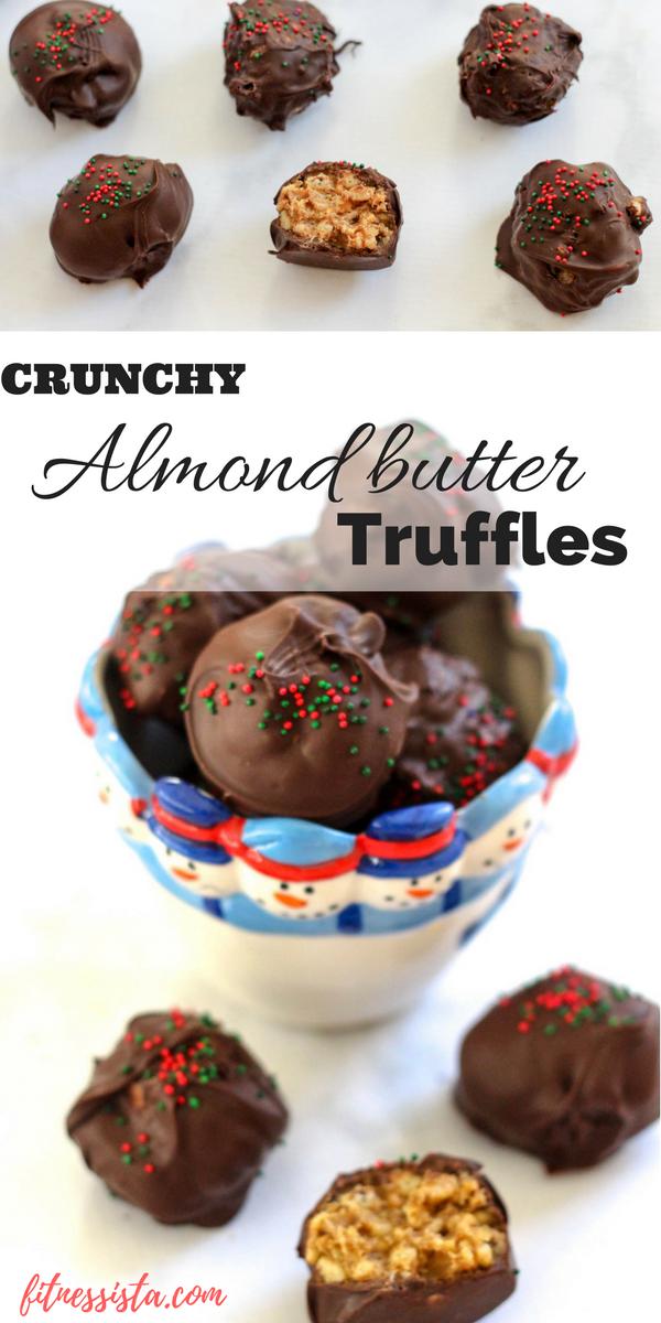 Crunchy almond butter truffles