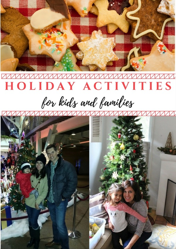 Holiday activities for kids and families - There are so many fun things to do with kids during the holidays! Here are some things that are on my holiday bucket list that you might enjoy with your own family! fitnessista.com #holidayactivities #holidays