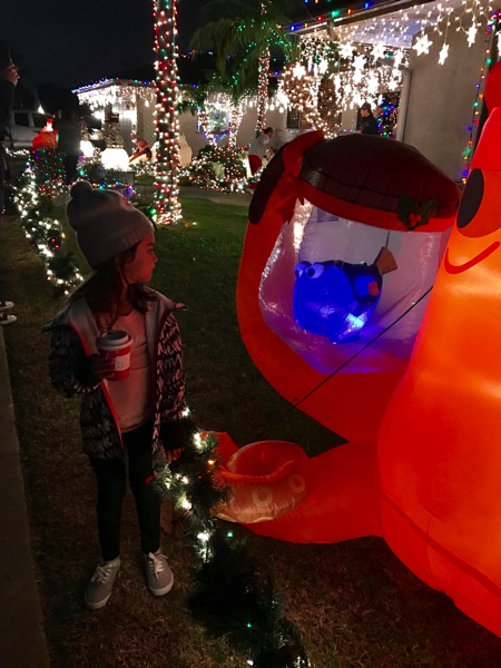 Holiday lights at garrison