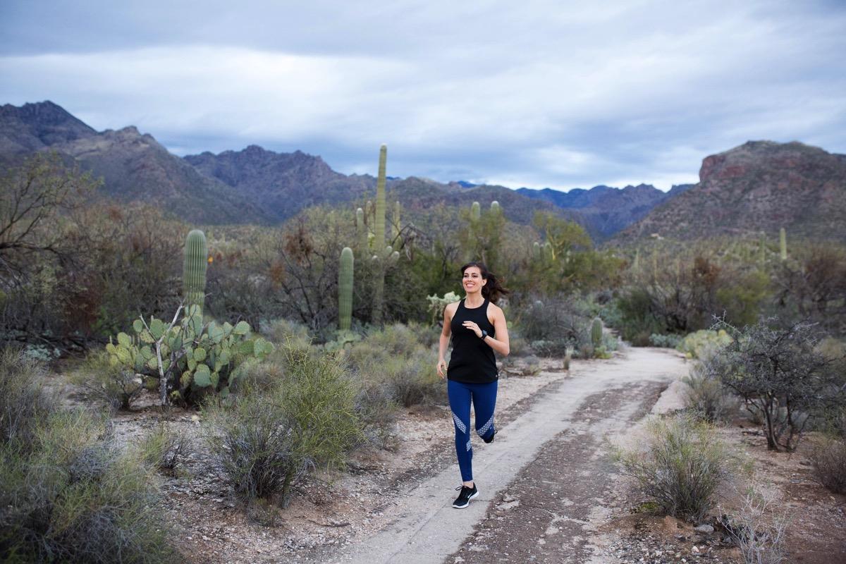Wearing GapFit by Gap Factory for a desert run