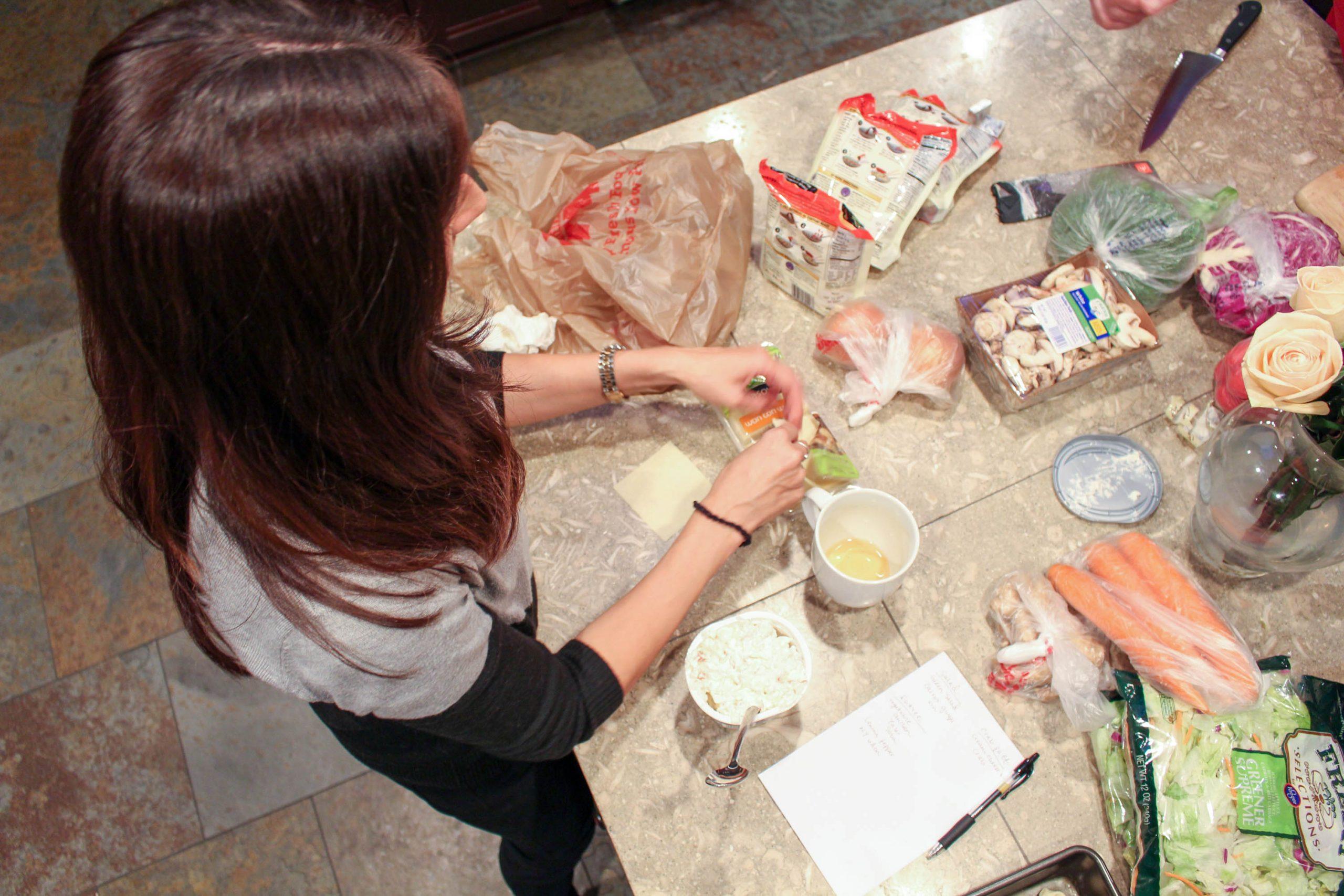 making crab puffs