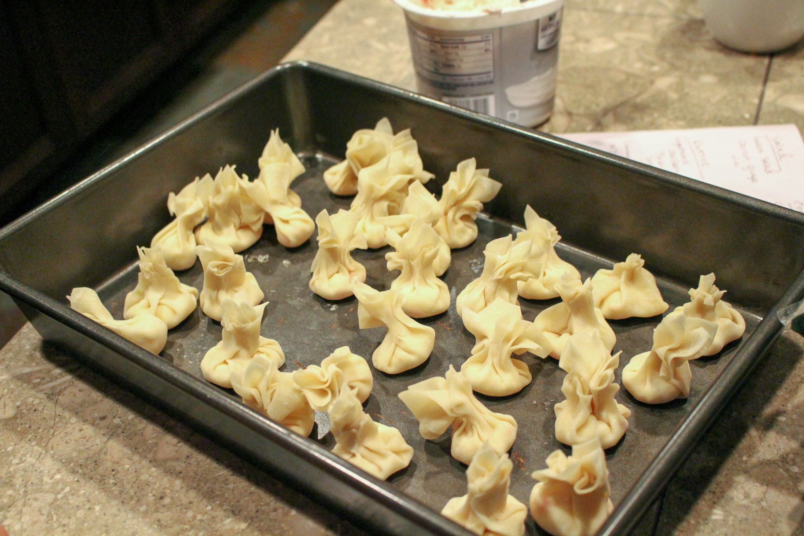 uncooked crab puffs