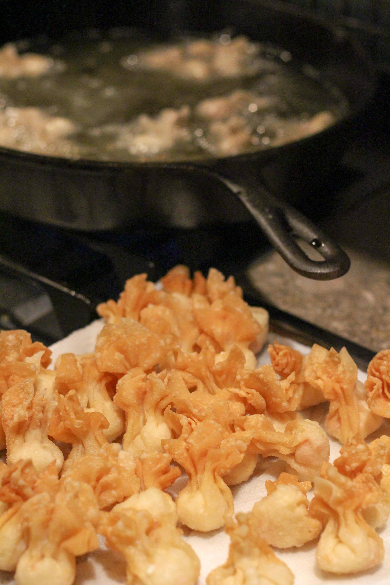 fried crab puffs