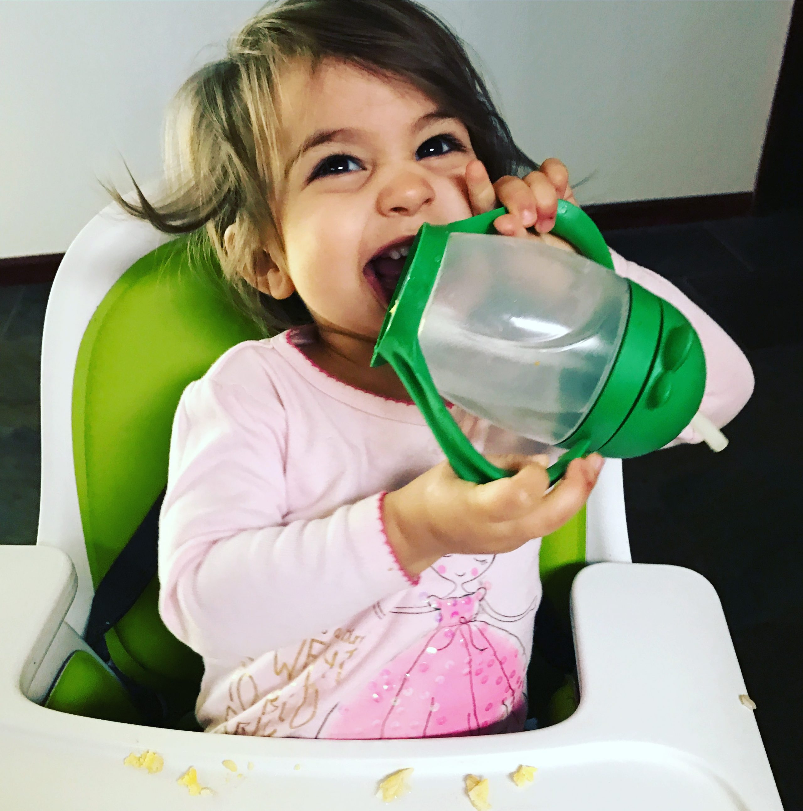 P and her lollacup