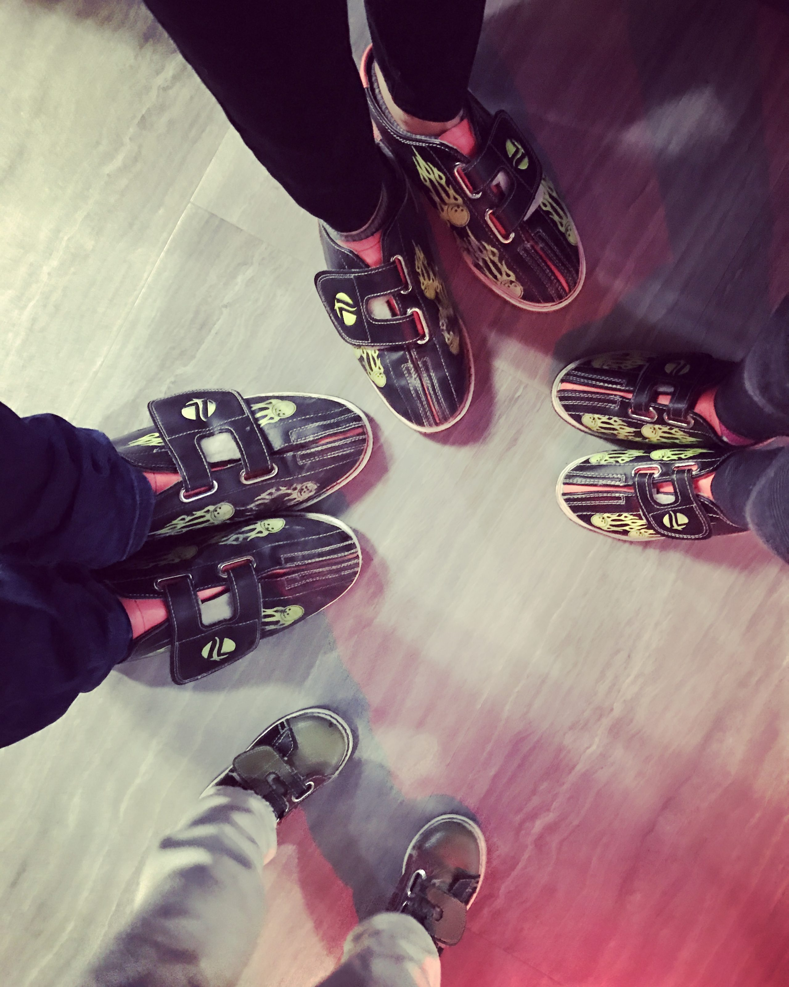 family bowling shoes